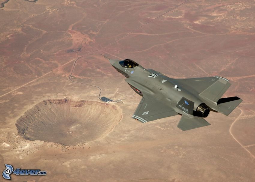 F-35 Lightning II, Meteor Crater, Arizona