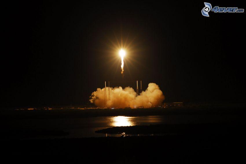Falcon 9, SpaceX, dragon, Start der Rakete