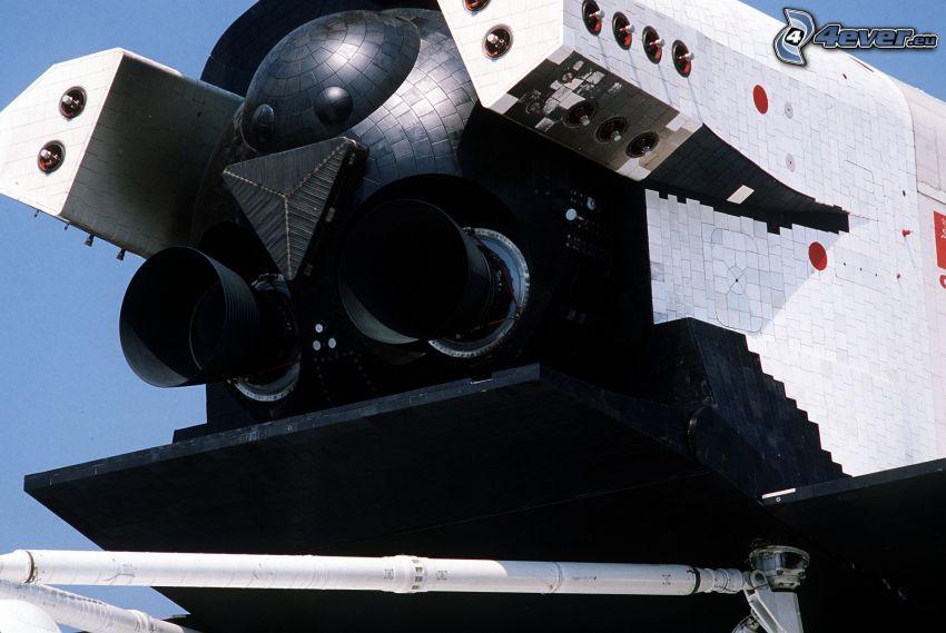 Russischer Shuttle Buran, die Motoren des Shuttles