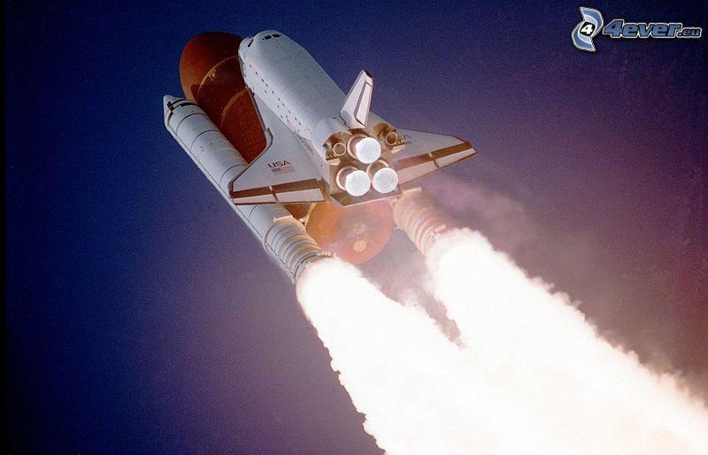 Space Shuttle Atlantis, Start vom Shuttle, die Motoren des Shuttles