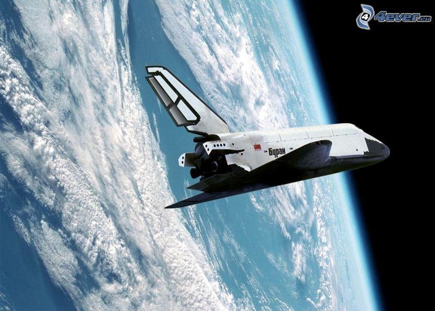 Space Shuttle Buran im Orbit, Erde