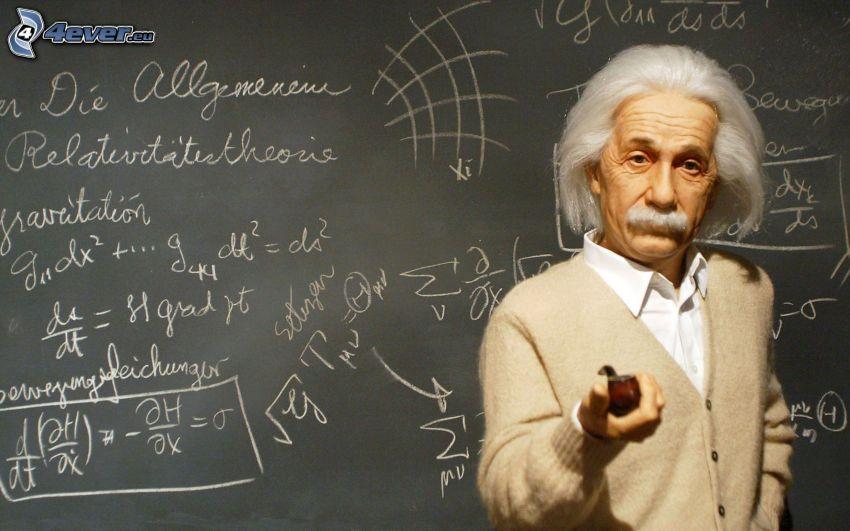 Albert Einstein, Schreibtafel, mathematische Gleichungen