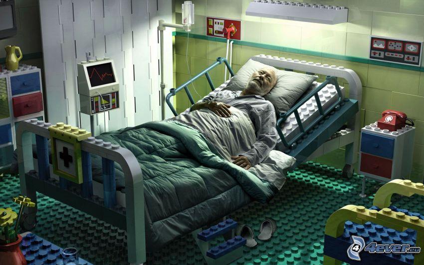 alter Mann, Krankenhaus