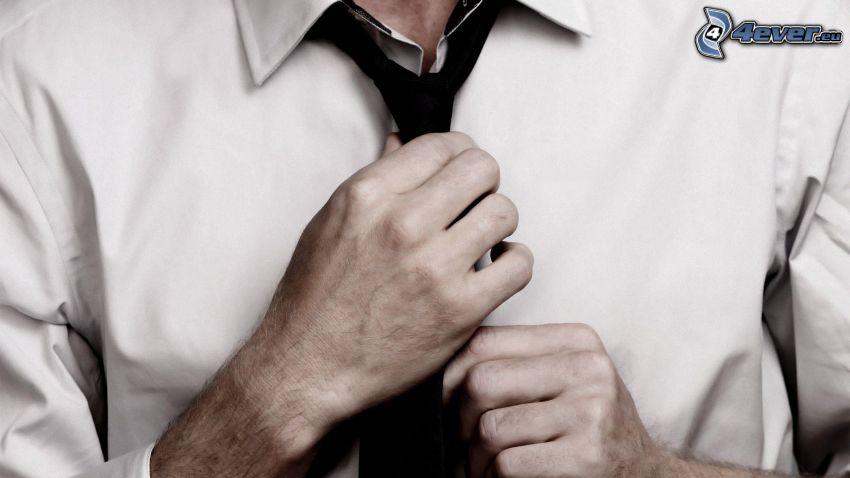 Binden Krawatten, Mann, Hände