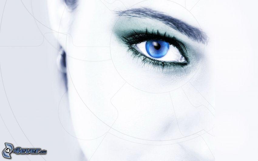 blau auge