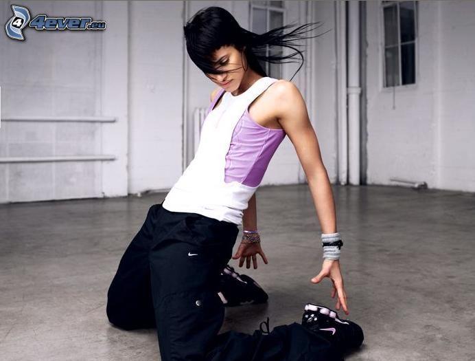 breakdance, hip-hop Mädchen