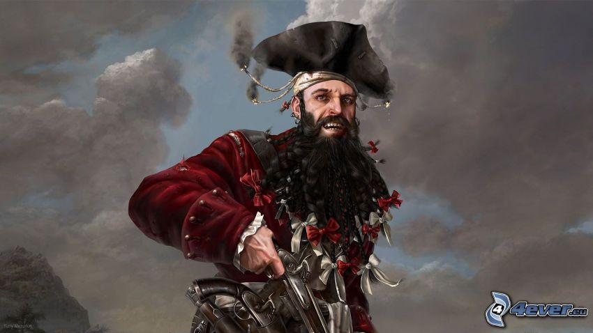 Edward Teach, Pirat