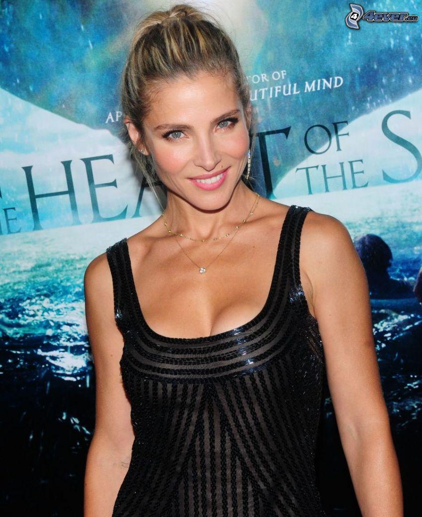 Elsa Pataky, Lächeln, schwarzes Kleid