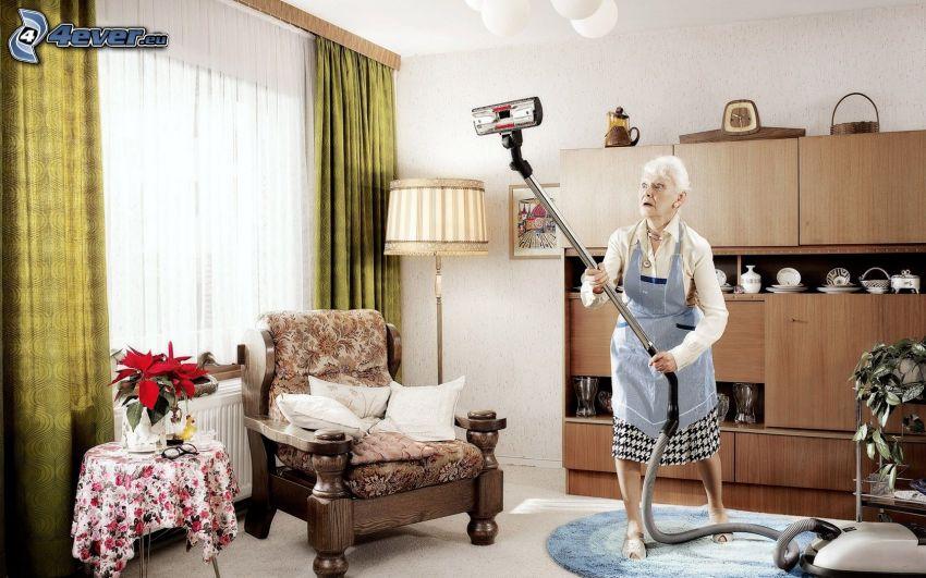 Großmutter, Wohnzimmer