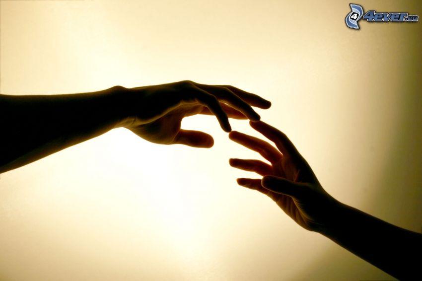 Hände, Berührung