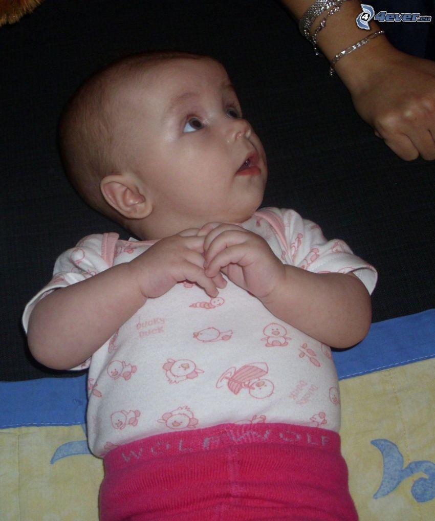 Baby, Augen, Hände