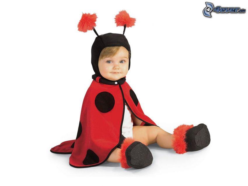 Baby, Marienkäfer, rotes Kostüm