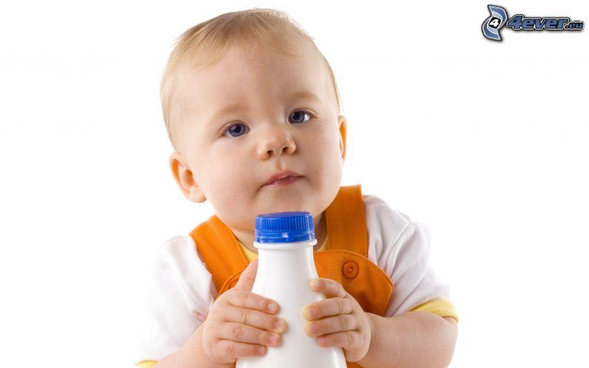 blauäugiges Kind, Flasche