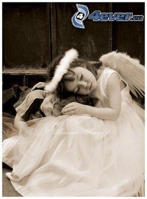 Engel, Mädchen, Schlafen