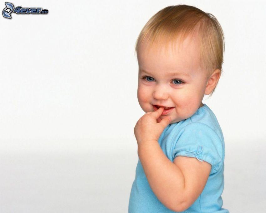 Kind, Lächeln