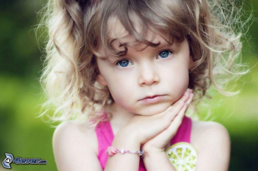 Mädchen, blauäugiges Kind