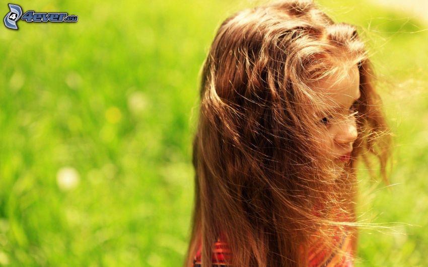 Mädchen, grüne Wiese