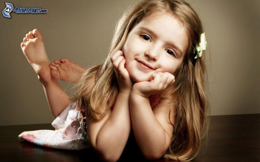 Mädchen, Lächeln