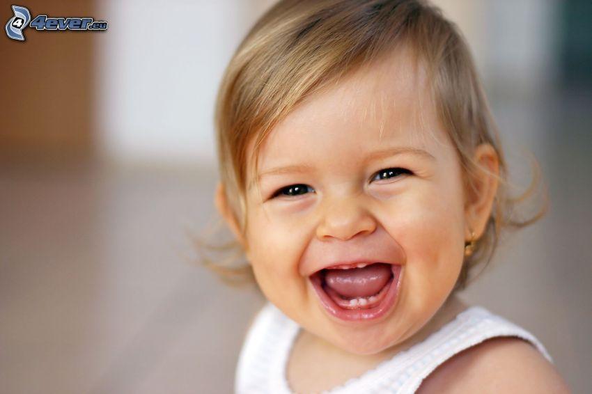 Mädchen, Lachen