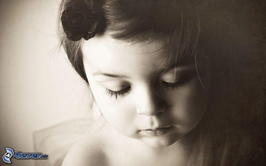 Mädchen, Schwarzweiß Foto