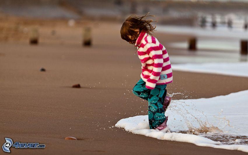 Mädchen, Strand