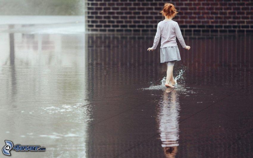 Mädchen, Wasser