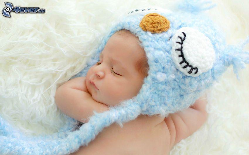 schlafendes Baby, Mütze