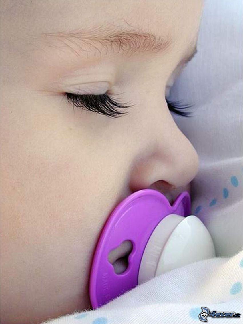 schlafendes Baby, Schnuller