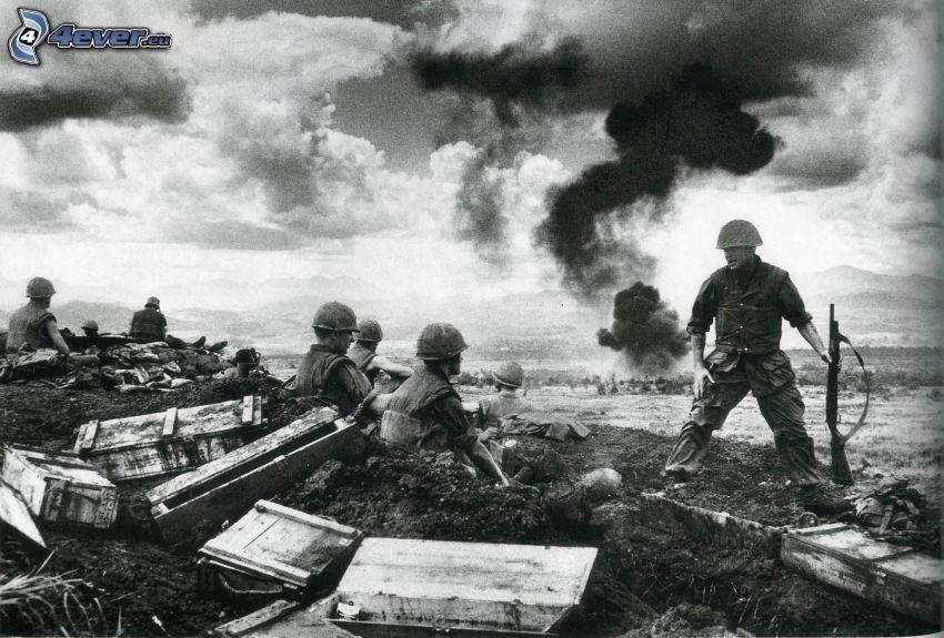 Krieg, altes Foto