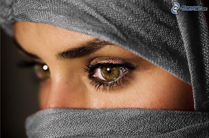 arabische Frau, Augen