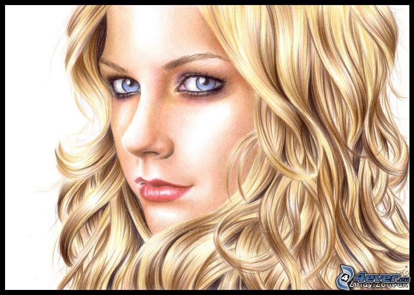 Avril Lavigne, gezeichnete Frau