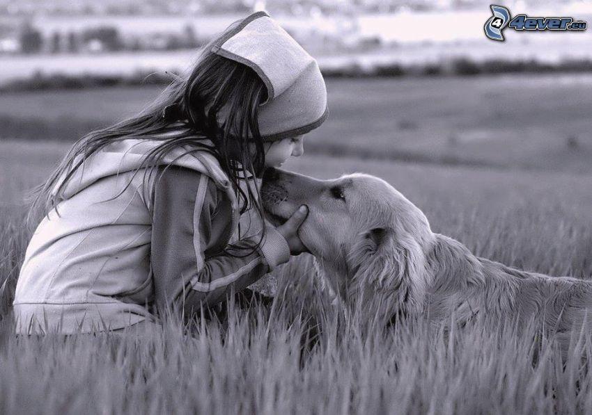 Mädchen mit dem Hund