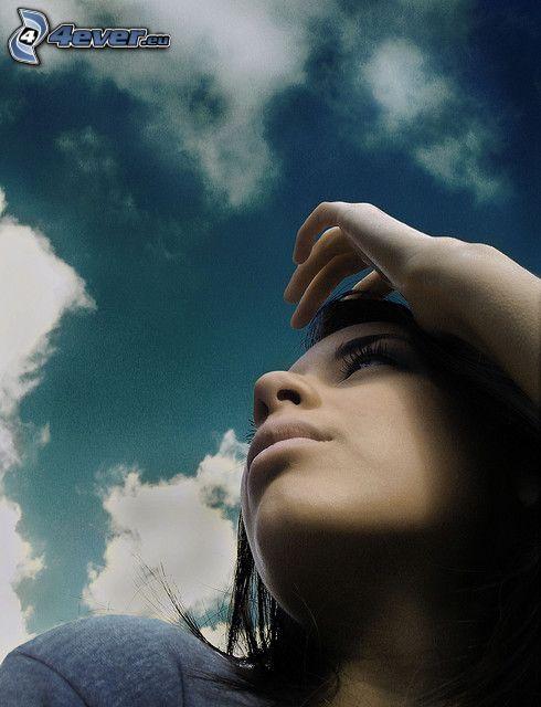 verträumtes Mädchen, Himmel