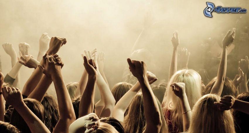 Menschenmenge, Hände