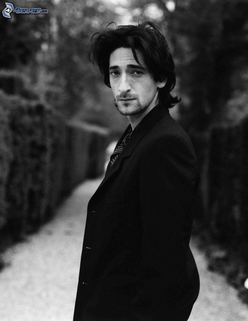 Adrien Brody, Schwarzweiß Foto