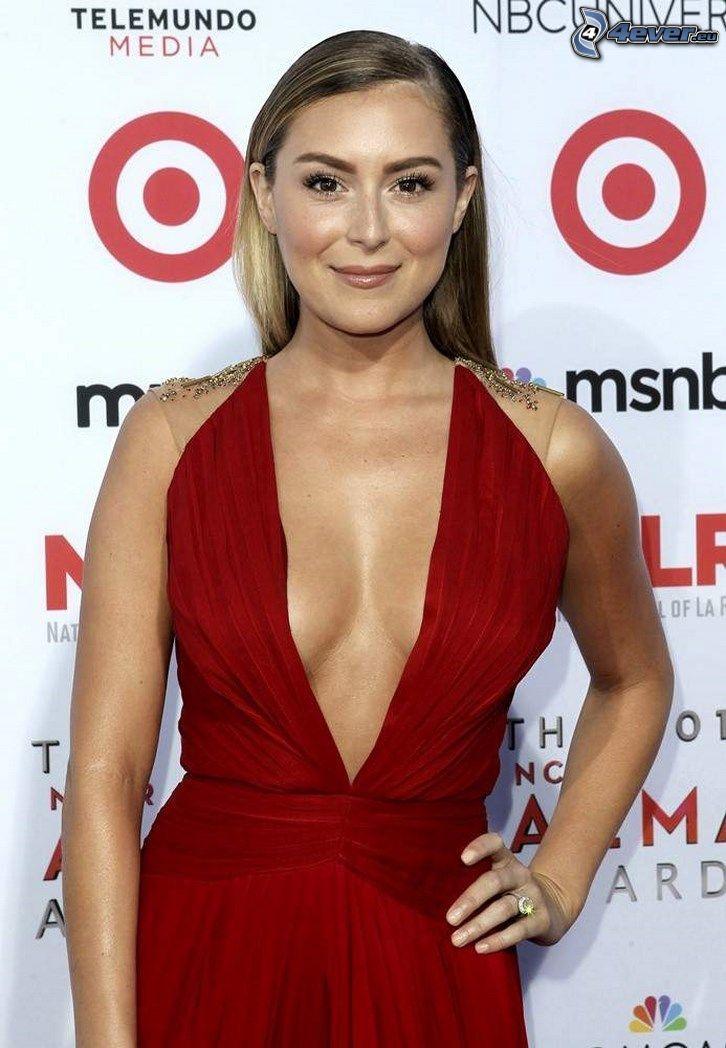Alexa Vega, rotes Kleid