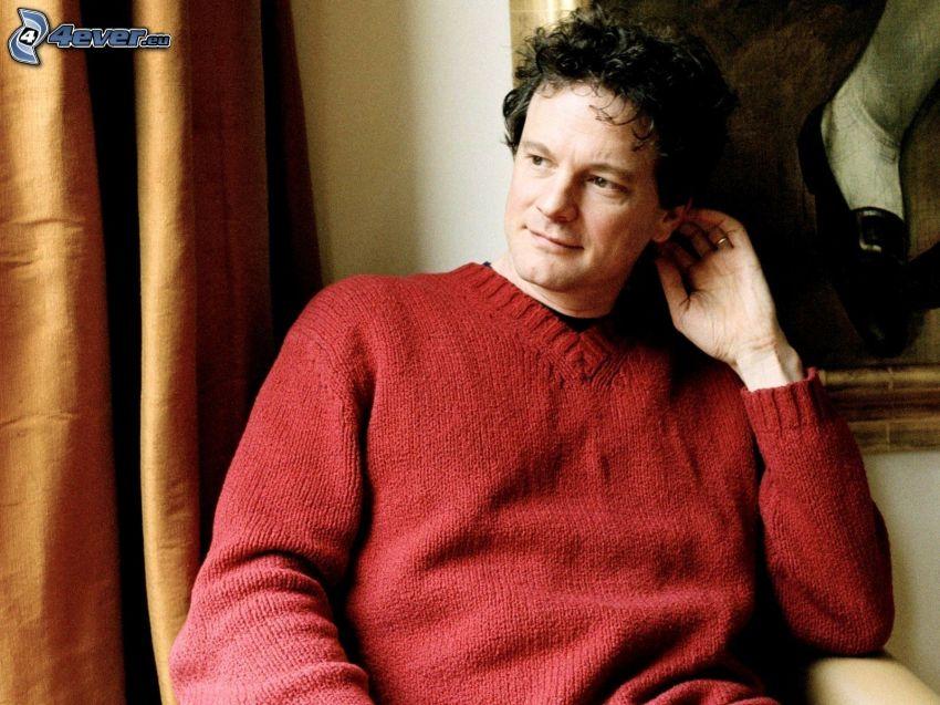 Colin Firth, Blick, Pullover