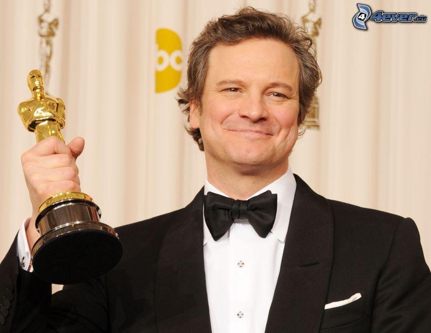 Colin Firth, Lächeln, Oscar, mann im Anzug