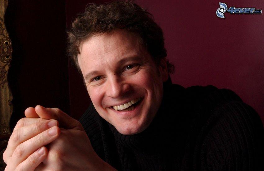 Colin Firth, Lachen