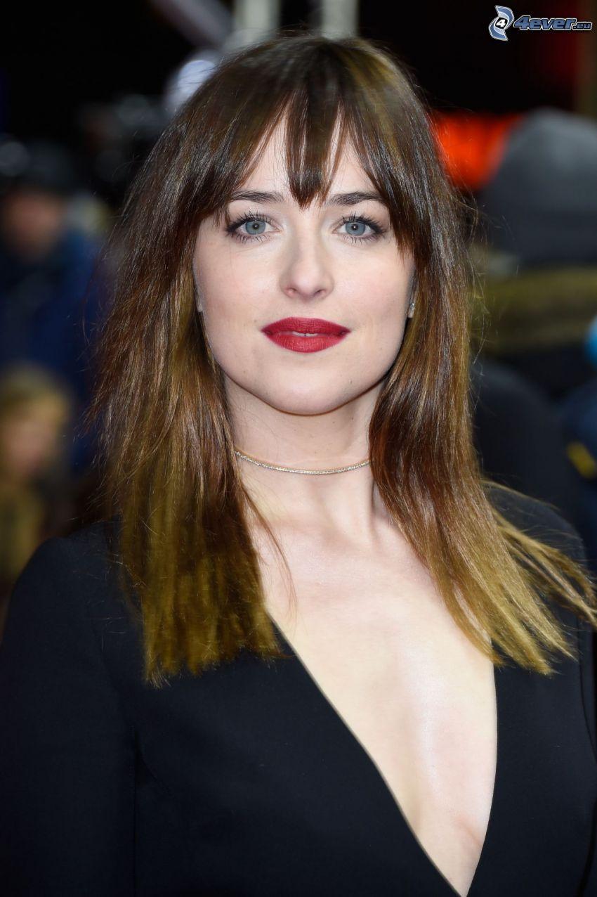 Dakota Johnson, rote Lippen