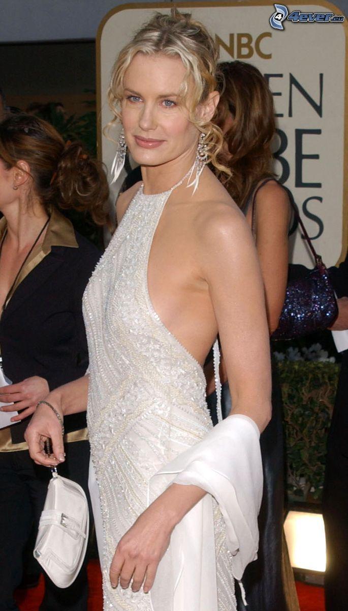 Daryl Hannah, weißes Kleid