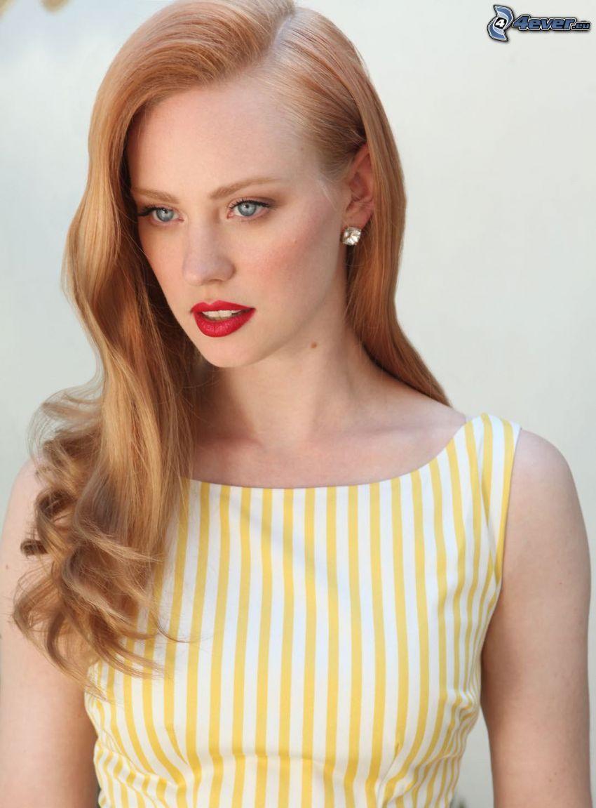 Deborah Ann, rote Lippen