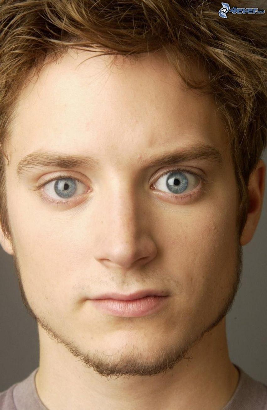 Elijah Wood, blaue Augen