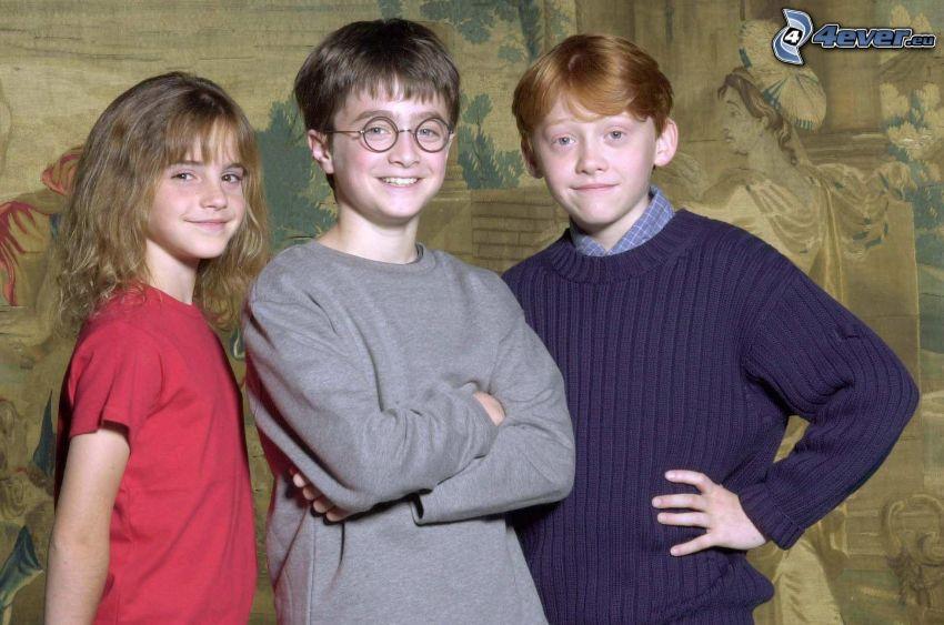 Harry Potter, Hermine Granger, Ron