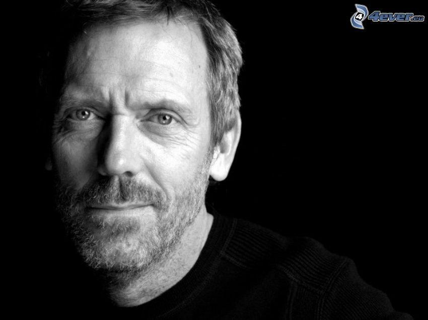 Hugh Laurie, Schwarzweiß Foto