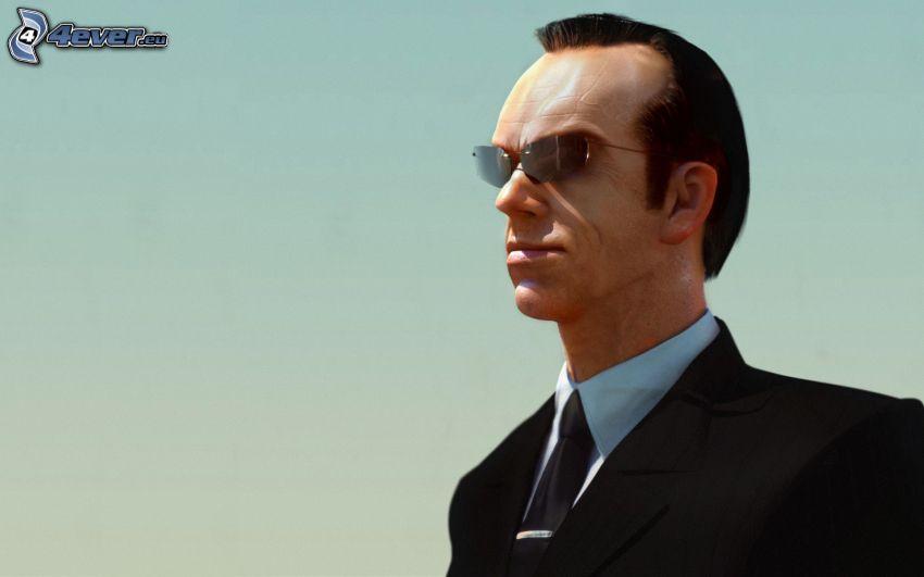Hugo Weaving, Sonnenbrille, mann im Anzug