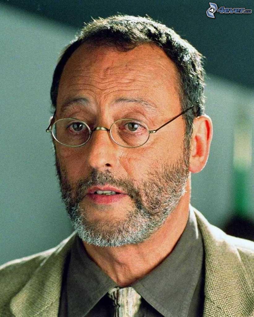 Jean Reno, Mann mit Brille