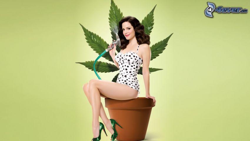 Mary-Louise Parker, Blumentopf, Marihuana