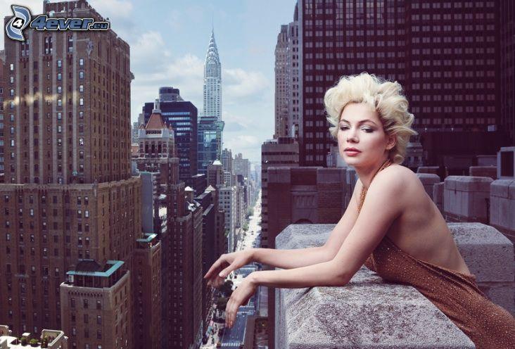 Michelle Williams, Wolkenkratzer, New York