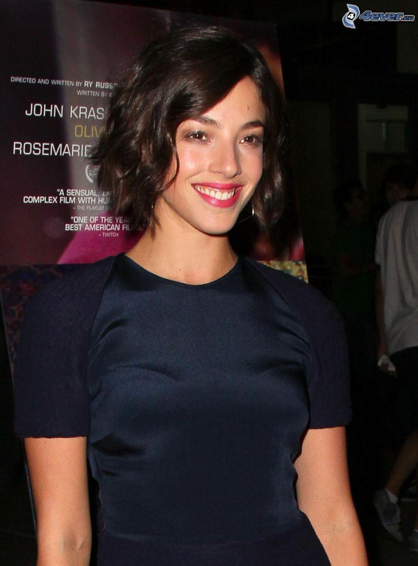 Olivia Thirlby, Lächeln, schwarzes Kleid